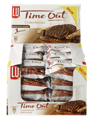 LU Time Out Granenbiscuits melkchocolade 24 x 43 gram