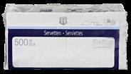 H-Line Servetten 1-laags33x33cm wit 500 stuks