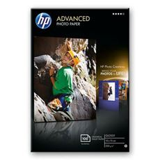 HP Advanced Glossy Photo Paper-100 sht/10 x 15 cm borderless