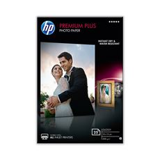 HP Premium plus glanzend fotopapier 10 x 15 cm 25 vellen