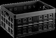 Sunware Square Vouwkrat 32 liter zwart