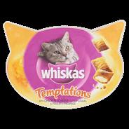 Whiskas Temptations met kip en kaas 60 gram