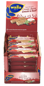Wasa Sandwich Cream cheese tomato & basil 24 x 40 gram