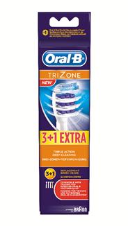 Oral-B TriZone Opzetborstels 3+1 stuks