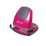 Rexel Easy Touch 2-gaats perforator 30 vel roze