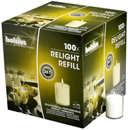 Bolsius Relight Navullingen transparant 100 stuks