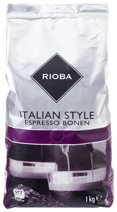 Rioba Koffiebonen Italian style 8 x 1 kg