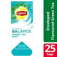 Lipton Feel Good Selection Green tea mint 25 zakjes