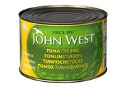 John West Tonijnstukken in zonnebloemolie 6 x 1.7 kg