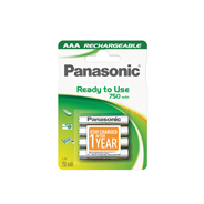 Panasonic Rechargeable batterijen AAA 750mAh 4 stuks