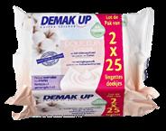 Demak'Up wipes milk  2 x 25 stuks