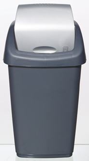 Tarrington House Swing Afvalbak 9 liter antraciet