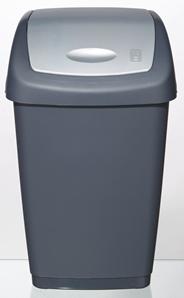 Tarrington House Swing Afvalbak 25 liter antraciet