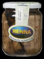 Renna Gegrilde aubergine in olie 500 gram