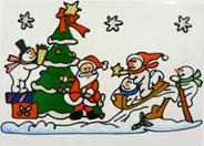 Peha Kerst raamsticker 40 cm