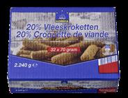 Horeca Select Vleeskroket (20%) 32 x 70 gram