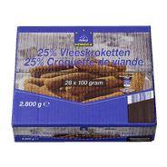 Horeca Select Vleeskroket 25%  28 x 100 gram