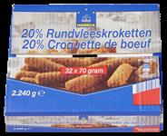 Horeca Select Rundvleeskroket 20% 32 x 70 gram