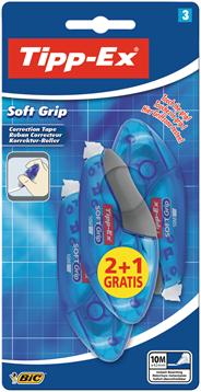 Bic Tipp-Ex soft grip 2 + 1 gratis