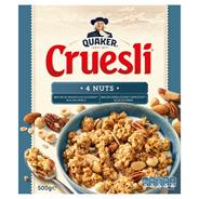 Quaker Cruesli 4 nuts 500 gram