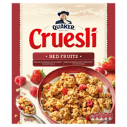 Quaker Cruesli Granen Red Fruits 500g