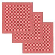 De Doek Die Direct Droogt (DDDDD) Theedoek BBQ rood 65 x 65 cm 3 stuks