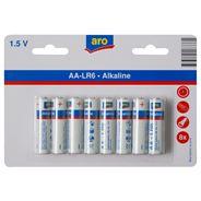 Aro Alkaline batterijen AA 8 stuks