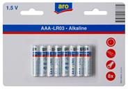 Aro Alkaline batterijen AAA 8 stuks