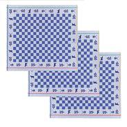 De Doek Die Direct Droogt (DDDDD) Theedoek Veere blauw 3 stuks