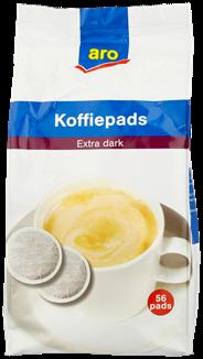 Aro Koffiepads extra dark roast 56 stuks