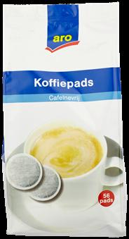 Aro Koffiepads cafeinevrij 56 stuks