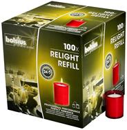 Bolsius Relight Navullingen rood 100 stuks