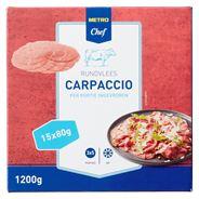 Horeca Select Rundercarpaccio diepvries 15 x 80 gram