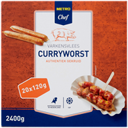 Horeca Select Curryworst varken diepvries 20 x 120 gram