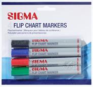 Sigma Flip chart marker assorti 4 stuks