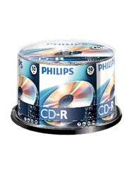 Philips CD-R 80 minuten 52x spindel 50 stuks