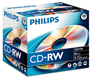 Philips CD-RW 80 minuten 700 MB 12x 10 stuks