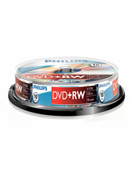 Philips DVD+RW 4,7 GB 16sp 10 stuks