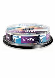 Philips DVD-RW 4,7 GB 4sp 10 stuks
