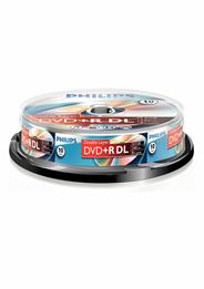 Philips DVD+R dubbellaags 8sp 8,5 GB 10 stuks