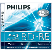 Philips Blu-ray RW 2sp 25GB 5 stuks