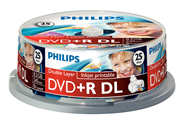 Philips DVD+R printable 8,5 GB 8x 25 stuks