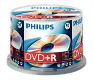 Philips DVD+R Spindel 16xSp 4.7 GB 50 stuks