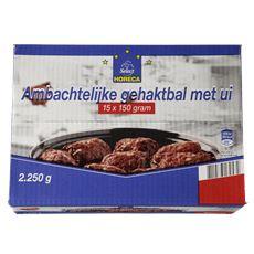 Horeca Select Ambachtelijke gehaktbal ui diepvries 15 x 150 gram