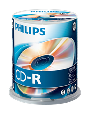 Philips CD-R 80 minuten spindel 100 stuks