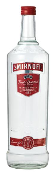 Smirnoff Vodka 21 4 x 3 liter