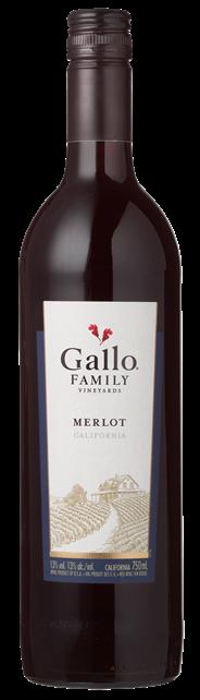 Gallo Family Vineyards Merlot 6 x 750 ml
