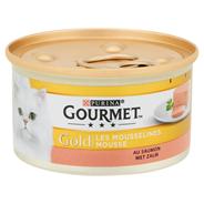 Purina Gourmet Gold mousse zalm 85 gram