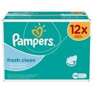 Pampers Fresh Clean Babydoekjes 12 Verpakkingen 768 Doekjes