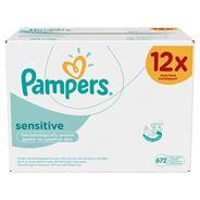 Pampers Sensitive Babydoekjes 12 verpakkingen = 672 Doekjes